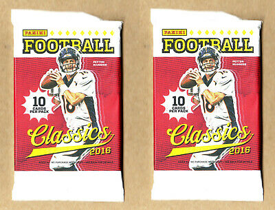 2 Packs - 2016 Classics Football-Unopened Sealed-10 Cards Per Pack-(20 Cards)