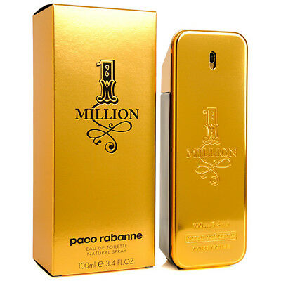 1 One Million by Paco Rabanne 3.4 oz Eau de Toilette Men's Fragrance Spray