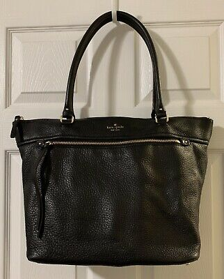 Kate Spade New York Cobble Hill Black Pebbled Leather Gina Tote $378
