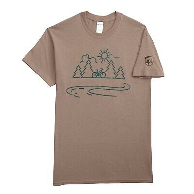 47a94f85 New Ups United Parcel Service Mens Collectible Brown Be In Balance Tee T- Shirt