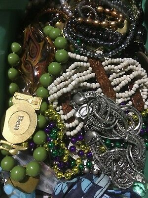 Unsearched junk jewelry lot Small Flat Rate Box Broken Wear Harvest Huge Assort