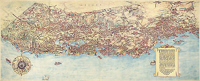 Pictorial 1938 California Map Treasure Island Golden Gate History Wall Poster