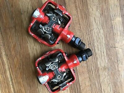 Red Vintage Ritchey SPD Mountain Bike Pedals Working Condition