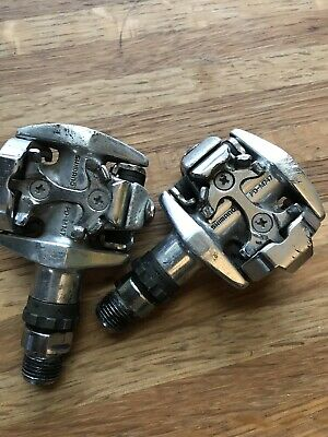 Vintage Shimano SPD M747 Mountain Bike Pedals Good Working Condition.