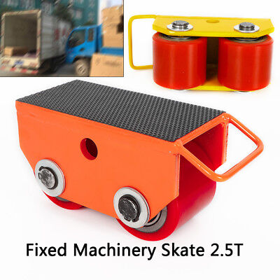 Heavy Duty Machinery Mover w/360 Rotation-2.5-Ton/5500Lb.Capacity,2-PU Rollers