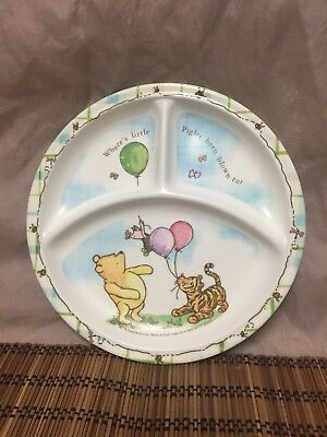 Winnie The Pooh Melamine Disney Separated Dinner Plate