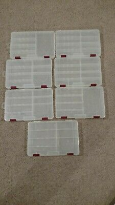 Multiple Craft Organizers or Plastic Tackle Tote Containers - Lot 1