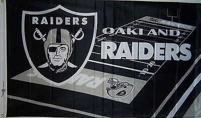 OAKLAND RAIDERS FLAG NEW 3x5 ft FIELD DESIGN