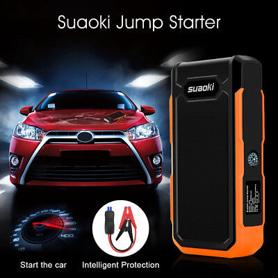 Suaoki 800A Peak Car 20000mA Charger Emergency Akku-Booster LCD Flashlight