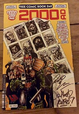 Signed Autographed 2000 AD Free Comic Book Day 2017 40th anniversary edition