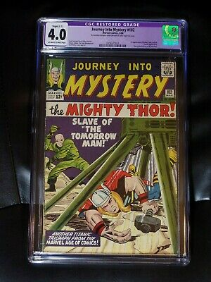 Journey Into Mystery #102 CGC 4.0 Off-white To White Pages — Restoration, Slight