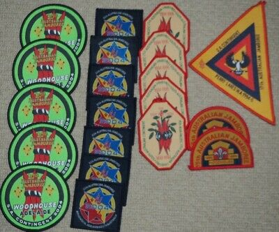 20 Assorted Scout Badges / Patches for trading / swapping or camp blanket