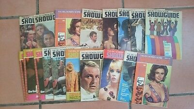 Collection of 18 Big Screen Scene Show Guide Movie Film Magazines 1960's Vintage