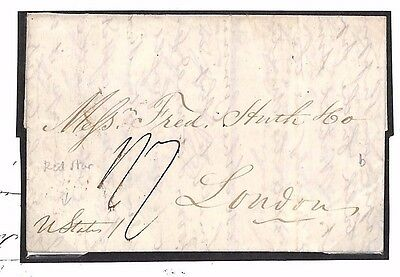 BE30 USA TRANSATLANTIC 1833 Cover Per RED STAR LINE *United States* SHIP LETTER