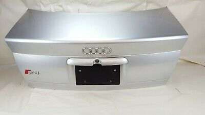 1999-2002 Audi A4 S4 Rear Trunk Lid Assy W/ Emblem Badge & Number Plate Lamps