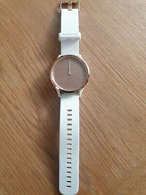 Garmin vivomove hr rose gold & white smartwatch. Excellent condition,  box etc