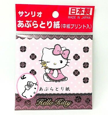 Sanrio Hello Kitty Face Oil Blotting Paper 50 Sheets Cats Animals Pet Japan Made
