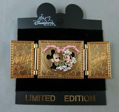 Walt Disney World Pin - Our Wedding - Mickey and Minnie Mouse - Hinged