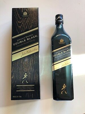 Johnnie Walker Double Black Scotch Whisky 700mL bottle Plus Box (empty)
