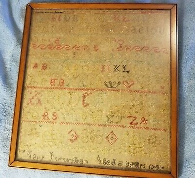 Antique Late 18Th Century Childs Sampler 1797