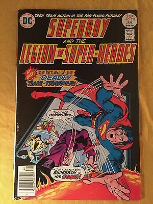 Superboy Legion Of Super-Heroes 223 1977 Fn 6.0 Graded By Seller Shooter Grell