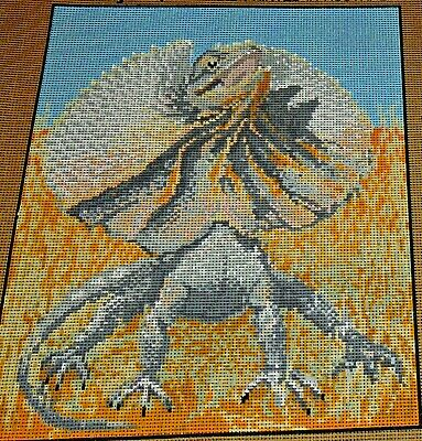 Frilled Neck Lizard Unique Tapestry Canvas Australian Unique Native Reptile New