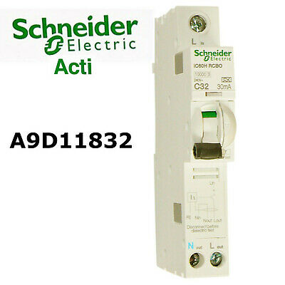 Schneider Acti9 A9D11832 32A 30mA RCBO  + BRAND NEW + Free Delivery