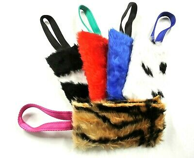 Dog Training Treat Bag Obedience Retrieve Furry Long Prey Dummy Various Colours