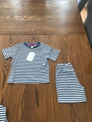 The Little White Company Boys Parrot Stripe Pyjama Set Age 12-18months BNWT