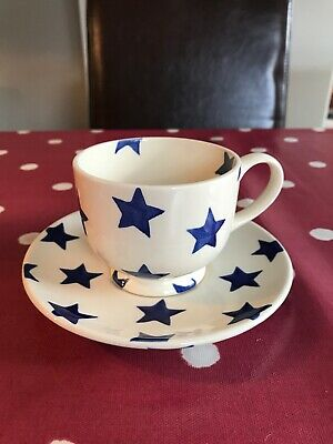 Emma Bridgewater Old Blue Star Cup And Saucer