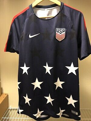 fc4c2330870 USA Soccer 2017 Nike Breath Prematch Training Jersey Navy - Large