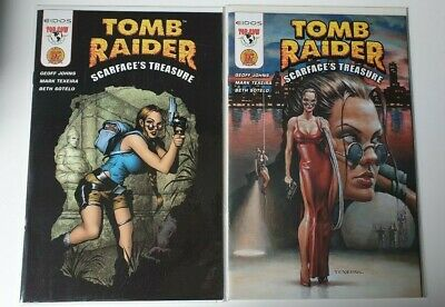 Tomb Raider Scarfaces Treasure #1 Dynamic Forces Df Variant A + B Covers Coa