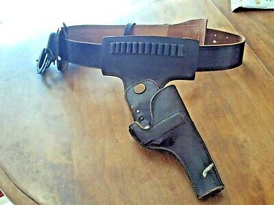 Vintage Leather Police Belt with Holster and Accessory Holders & Cuffs JAY-BEE