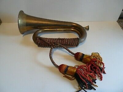 Super  Brass Bugle With Tassels Possibly Military
