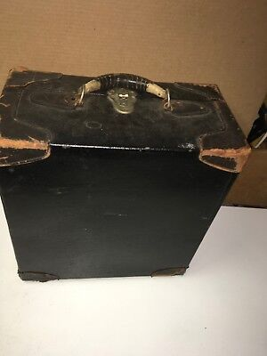 Antique Leather Hat Box