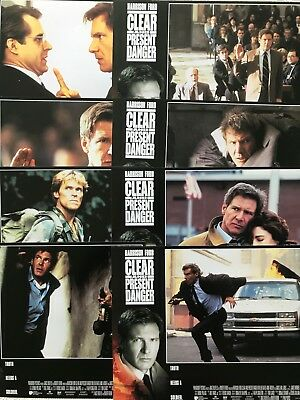 Clear And Present Danger set of 8 Lobby Cards 1994 Harrison Ford William Dafoe