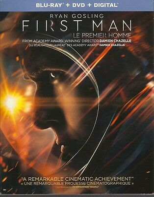FIRST MAN BLURAY & DVD & DIGITAL SET with Ryan Gosling & Claire Foy &Corey Stoll