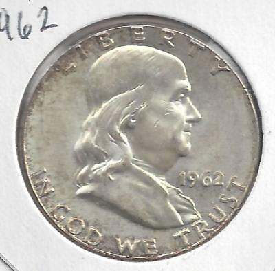 1962 P Franklin half dollar Nice Circulated U.S. 90% silver coin