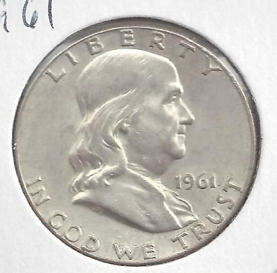 1961 P Franklin half dollar Nice Circulated U.S. 90% silver coin