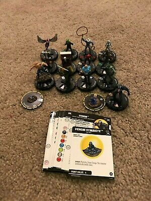 Heroclix Earth X Lot with Super Rare Venom 51 with Venom Symbiote s006