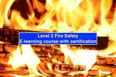 Level 2 Fire Safety E-learning course. Online course with certification