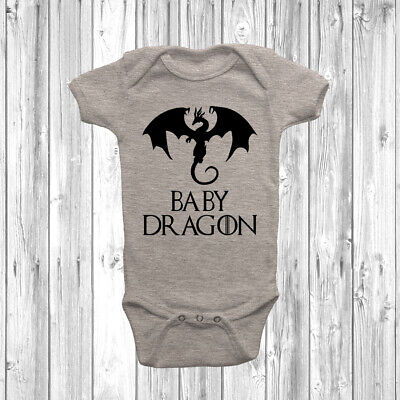 Baby Dragon Baby Grow Vest Bodysuit Short Long Sleeve Gift Game Of Thrones