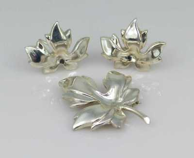 20% OFF Exquisite Tiffany & Co Angela Cummings Silver Flower Earrings Pin Rare!
