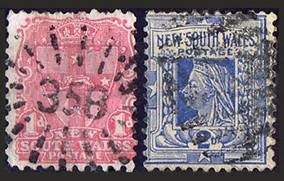 2 x New South Wales gestempelt ° used
