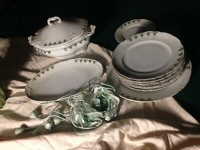 Partial set of dishes Liberty pottery beginning 1900