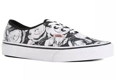 New Vans Mens 3.5 Womens 5 Authentic Digi Roses Black True White Sneakers Shoes