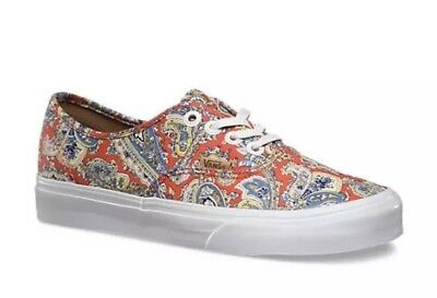 New Vans Mens 3.5 Womens 5 Authentic + Paisley Cayenne Skate Sneakers Shoes
