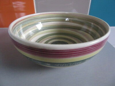 Vintage Studio Pottery Scraffito Larger Bowl Totland Iow Signed Great Condition