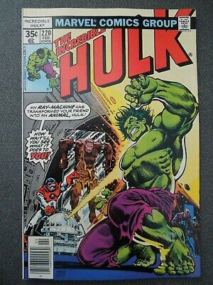 Incredible Hulk  #220 (Vol One 1978)