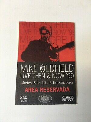 Mike Oldfield Rare Concert Cloth Pass Barcelona 1999
